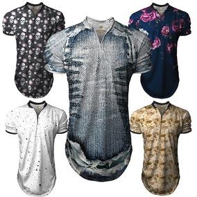 Camiseta Camisa Polo Sport Ziper Degrade Swag B116 c9cdb3428083e
