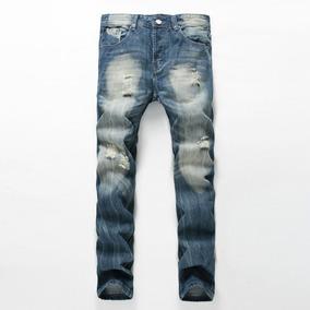 Jeans Magro Calças Homens Moda Brim Calças Fino Fit Qualid 80ffc0542e282