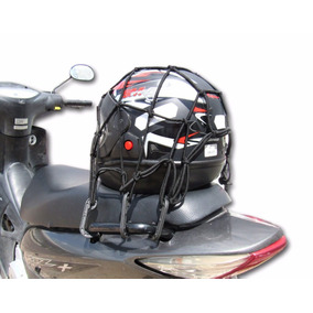 10 Redes Com Extensor Elastico P/ Capacete De Moto 35x35 Cm
