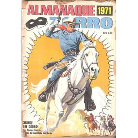 Almanaque Zorro - 1971 - Ebal - Acompanha Brinde Cih