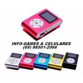 Mp3 Player Shufle Com Tela Lcd Gravador De Voz E Rádio Fm !