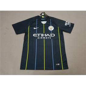 Camiseta Suplente Manchester City 2018 2019 Aguero Otamendi