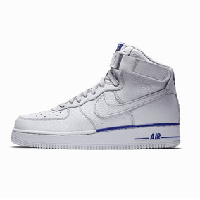 super popular df834 0deef Zapatilla Bota Nike Air Force 1 Mid Txt Gris Azul