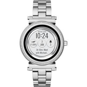 Reloj Smartwatch Michael Kors Sofie Access Plata Acero Inox.