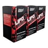 Kit 3 Lipo 6 Black 120 Cápsulas Ultra Concentrate - Nutrex