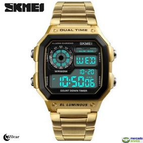 c921188a060 Relogio Digital Dourado Masculino - Relógio Masculino no Mercado ...