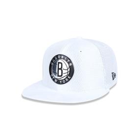 Bone 950 Brooklyn Nets Nba Aba Reta Snapback Branco New Era