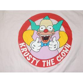 Simpsons Playera Camiseta Grande Payaso Krusty Dist0 Bart