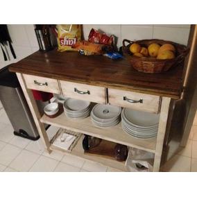 Mesas Auxiliares Cocina Madera - Muebles de Cocina en Mercado Libre ...