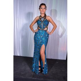 1fa7a53fb Vestidos de graduacion color azul petroleo - Vestidos largos