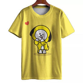 Camisa Camiseta 3d Full Chimmy Bt21 Bts Kpop Kawaii c26df7aca8edc