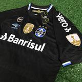 Camisa Grêmio Preta Iii Libertadores Com Patchs, Patrocínios