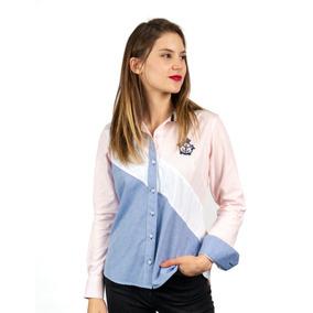 ddfddd9bcbc Camisa Manga Larga Azul Cielo Mujer Camisas Polos Y Blusas - Ropa ...