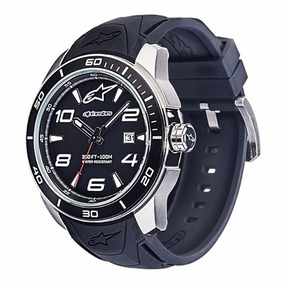 Relógio Alpinestars Masculino Tech 3h Inox Pulseira Silicone