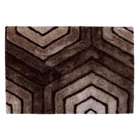 Tapete De Sala 3d Standal Corttex 01.50m X 01.00m Marrom