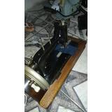 Máquina De Costura Doméstica Antiga Manual Funcionando Perfe