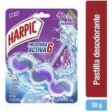Desinfectante Pastilla Frescura Activa Lavanda 39gr Harpic