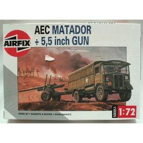 Aec Matador + 5,5 Inch Gun (kit Plástico), 1/72. Airfix.!