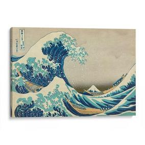 Cuadro Decorativo De Lienzo, La Gran Ola, K. Hokusai, 45x30