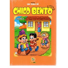 Colecao Um Tema So Chico Bento Escola - Bonellihq Cx255 B19