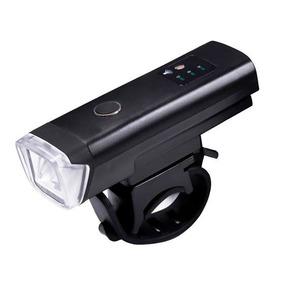 Farol Lanterna Usb Bike Fotocélula Inteligente Preto Hj-47