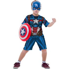 Fantasia Vingadores Capitão America + Mascara + Escudo