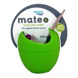 Mate De Silicona Mate Mateo Con Bombilla