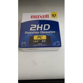 Caixa Disquete Maxell Original 10 Unidades Mf 2hd 1.44mb