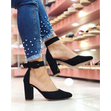 Zapato Cerrado Tacón Grueso Para Mujer Envío Gratis 84b3a89a7006