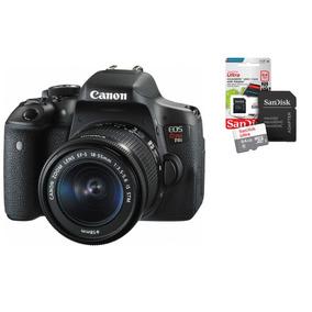 Câmera Canon Eos Rebel T6i Kit Ef-s 18-55mm + Cartão 64gb