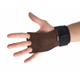 Luva Hand Grip Workout Para Crossfit 3 Furos Couro Legitimo