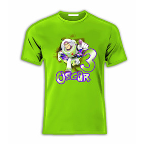 Playeras C/nombre Toy Story Buzz Lightyear P/ Fiesta!!!