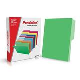 Folders Color Verde Pendaflex Paq C/50 Pzs T. Carta 1/2 Ceja