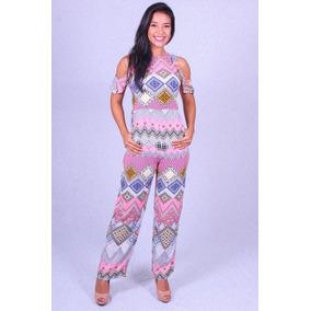 Macacão Estampado Bela Gaia Bg-135 - Asya Fashion