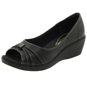 29a78e0046 914p Sapato Azaleia Em Tecido Anabela - Sapatos no Mercado Livre Brasil