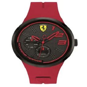 Relógio Scuderia Ferrari Masculino Borracha Vermelha - 83039
