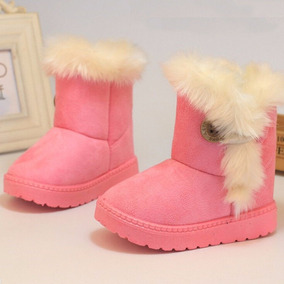 Botas Pink Baby Niña Winter Shoes Anti Slip Rubbe 1 A 6 Años b3d085bcb08d1