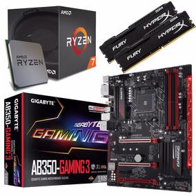 Combo Amd Ryzen 7 1700 + Gigabyte Ab350 Gaming 3 + 16gb Fury