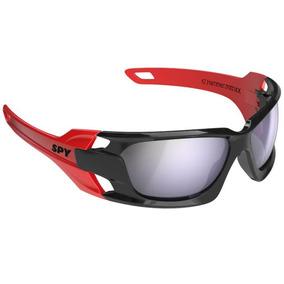 Oculos Sol Espelhado Spy Hammer 67 Preto Brilhante Vermelho aa78006e36