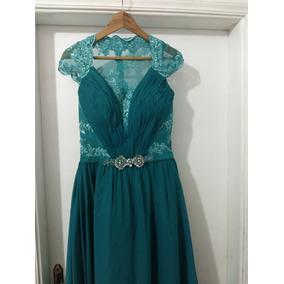 Vestido verde tiffany usado