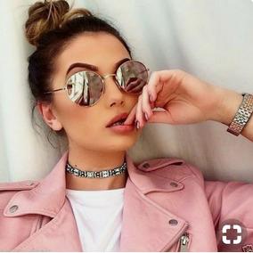Óculos Prateado Escuro Round Lente Espelhada Feminino Barato. R  39 74 550e8e6be7