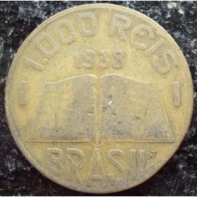 Moeda 1000 Réis - Amarela - 1938 - Anchieta - G