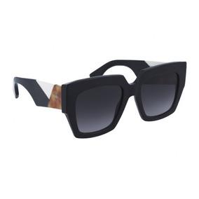 Óculos De Sol Gatinho Quadrado Hexagonal Fnd 0263 Frete Brin