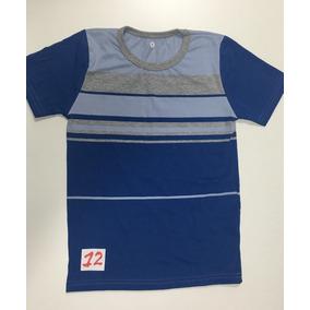 Kit 5 Camiseta Meia Manga Listrada Conforme Foto Tam 8ao16 4064ed3e14090