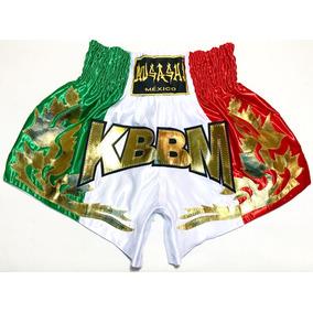 Short Muay Thai kickboxing Bandera Mexico Marca Musashi® 78c48650cee