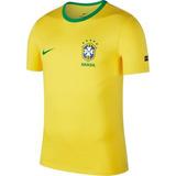 Camisa Nike Selecao Brasil Cbf Cotton Torcedor Original + Nf 9ce954b6be5bb