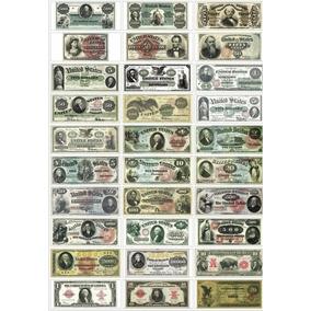 Réplicas Cédulas Estados Unidos - Completa - 12x S/ Juros
