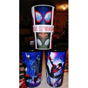 Set 3 Vasos Spider-man Un Nuevo Universo Cinépolis