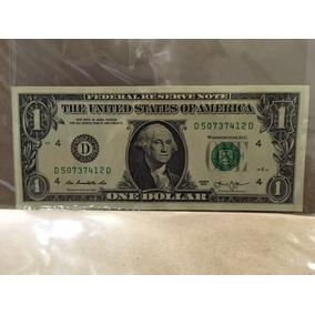 Cédula Nota Hum (1) Dólar Americano Dollar Coleção