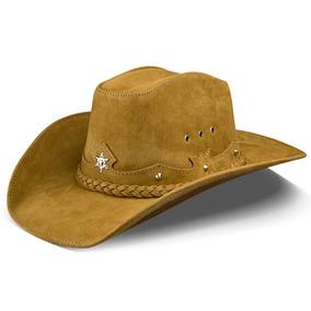 Chapeu Cowboy Bege De Couro Chapeus Country - Chapéus no Mercado ... c344e1f919c
